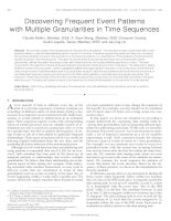 Discovering Frequent Event Patterns with Multiple Granularities in Time Sequences docx
