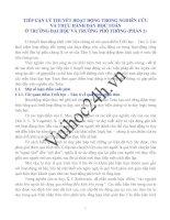 TIẾP CẬN LÝ THUYẾT HOẠT ĐỘNG TRONG NGHIÊN CỨU VÀ THỰC HÀNH DẠY HỌC TOÁN Ở TRƯỜNG ĐẠI HỌC VÀ TRƯỜNG PHỔ THÔNG (PHẦN 1) pptx