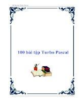 100 bài tập Turbo Pascal - Bài tập tin học lớp 8 pot
