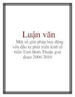Luận văn: Một số giải pháp huy động vốn đầu tư phát triển kinh tế biển Tỉnh Bình Thuận giai đoạn 2006-2010 pot