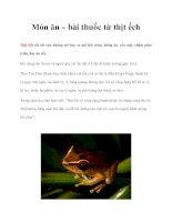 Món ăn – bài thuốc từ thịt ếch pdf