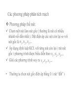 chương 3 các phương pháp phân tích mạch dc