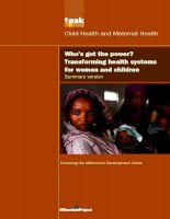 Who's got the power? Transforming health systems for women and children pot