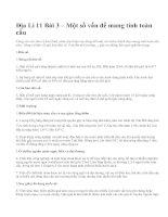 Địa Lí 11 Bài 3 – Một số vấn đề mang tính toàn cầu