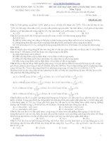 Đề thi thử môn vật lý trường THPT chuyên KHTN 2014 (mã đề 163)