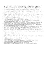 Soạn bài: Ôn tập phần tiếng Việt lớp 7 (phần 2)