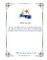 tiểu luận: NGHIÊN CỨU CÁC PHƯƠNG PHÁP GIẤU TIN TRONG ẢNH SỐ VÀ XÂY DỰNG MÔ HÌNH THỬ NGHIỆM GIẤU TIN BẢO VỆ LOGO DOANH NGHIỆP pdf