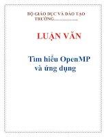LUẬN VĂN: Tìm hiểu OpenMP và ứng dụng pptx