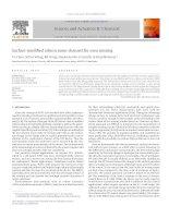 Surface modified silicon nano channel for urea sensing