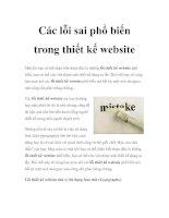 Các lỗi sai phổ biến trong thiết kế website docx
