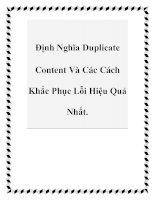 Định Nghĩa Duplicate Content Và Các Cách Khắc Phục Lỗi Hiệu Quả Nhất. pptx
