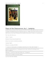 Days of the Discoverers ppt