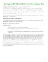 Component 2: Health Education Evaluation Tool ppt