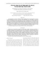 TỐI ƯU HÓA TRONG SẢN XUẤT NÔNG NGHIỆP CỦA NÔNG HỘ Ở HUYỆN THANH MIỆN, TỈNH HẢI DƯƠNG pptx