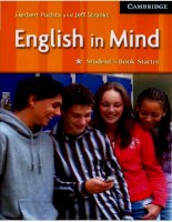 English in mind starter student