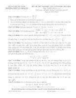 đề thi thử đại học lần 1 môn toán khối a, a1 năm 2014 - trường thpt lý thái tổ
