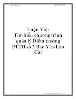 Luận Văn Tìm hiểu chương trình quản lý pptx