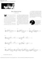 Music theory   blue notes or not (john duarte)