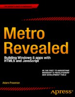 apress metro revealed, building windows 8 apps with html5 and javascript (2012)