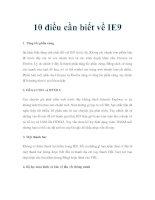 10 điều cần biết về IE9 ppt