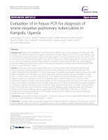Evaluation of in-house PCR for diagnosis of smear-negative pulmonary tuberculosis in Kampala, Uganda doc