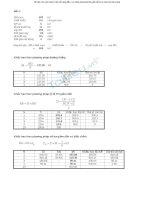 một số bài tập và lời giải môn kế toán