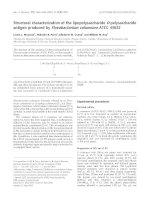 Báo cáo khoa học: Structural characterization of the lipopolysaccharide O-polysaccharide antigen produced by Flavobacterium columnare ATCC 43622 potx