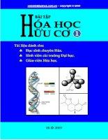 Bài tập Hóa học hữu cơ (tập 1) docx