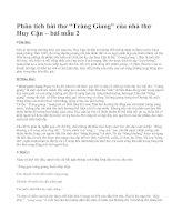 """Phân tích bài thơ """"Tràng Giang"""" của nhà thơ Huy Cận – bài mẫu 2"""
