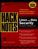 hacknotes - linux & unix security portable reference