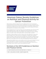 American Cancer Society Guidelines on Nutrition and Physical Activity for Cancer Prevention doc