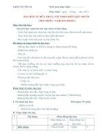 GIÁO ÁN THỰC HÀNH SỐ 4 - BÀY BÀN ÂU BỮA TRƯA, TỐI THEO KIỂU ĐẶT TRƯỚC ( SET MENU / TABLE'D HOTE ) pptx