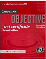 objective first cẻtificate 2nd workbook