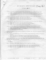 Đề thi công chức môn Tin học: Đề 5 ppt