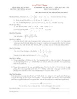 đề thi thử môn toán khối d tỉnh hải dương năm 2014