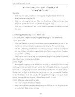 Giáo trình Nguyên lý kế toán - CHƯƠNG 2: PHƯƠNG PHÁP TỔNG HỢP VÀ CÂN ĐỐI KẾ TOÁN pot