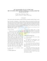 Kết quả nghiên cứu và tuyển chọn một số giống cẩm chướng chùm (Spray carnation) nhập nội tại Sa Pa-Lào Cai potx