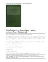 Algic Researches, Comprising Inquiries ppt