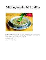 Món ngon cho bé ăn dặm pdf