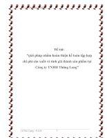"""Đề tài: """"giải pháp nhằm hoàn thiện kế toán tập hợp chi phí sản xuất và tính giá thành sản phẩm tại Công ty TNHH Thăng Long"""" pptx"""