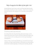 Một số nguyên tắc điều trị béo phì ở trẻ ppt