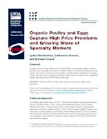 Organic Poultry and Eggs Capture High Price Premiums and Growing Share of Specialty Markets pptx