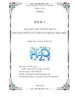 Tài liệu phương pháp giải nhanh trong hóa học   lần 1 chemistry 0102 (1)