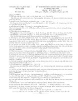 KỲ THI CHỌN HỌC SINH GIỎI CẤP TỈNH NĂM HỌC 2010-2011 Môn thi: HÓA HỌC - Lớp 9 doc
