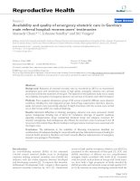Availability and quality of emergency obstetric care in Gambia''''s main referral hospital: women-users'''' testimonies ppt