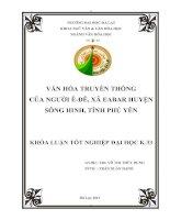 Văn hóa truyền thống của người Ê-đê, xã Eabar, huyện Sông Hinh, tỉnh Phú Yên docx