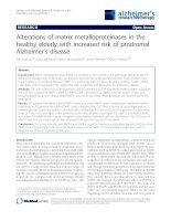 Alterations of matrix metalloproteinases in the healthy elderly with increased risk of prodromal Alzheimer's disease pot
