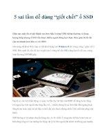 """5 sai lầm dễ dàng """"giết chết"""" ổ SSD docx"""
