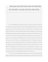 Qua đoạn trích Mã Giám Sinh mua Kiều Bạn hãy hóa thân vào nhân vật Thúy Kiều để lại pdf