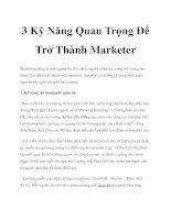 3 Kỹ Năng Quan Trọng Để Trở Thành Marketer doc